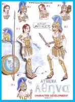 Athena Character Development Sheet I by Deorse