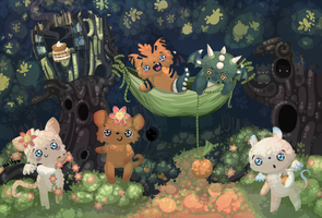 forest friends by Miss-Glitter