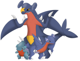 Gible, Gabite, and Garchomp
