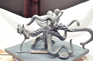 Sculpture: Snatch - Suckers for arms by FreakStyleBJD