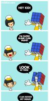 Super Rubik Cube Man by mclelun