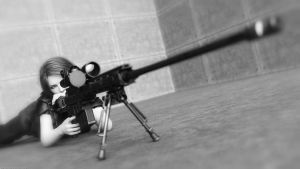 Little Thing in Black and White - Sniper 02 by QuanticDementia
