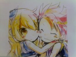 Natsu and Lucy [Fairy Tail] by Flowrant