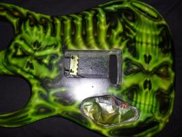 Back of Green Guitar by Jeris82