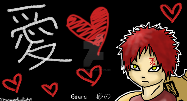 Finished Gaara Background by SummerKittyGirl