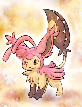 C: Skitty+Mawile Fusion by Skeletpengu