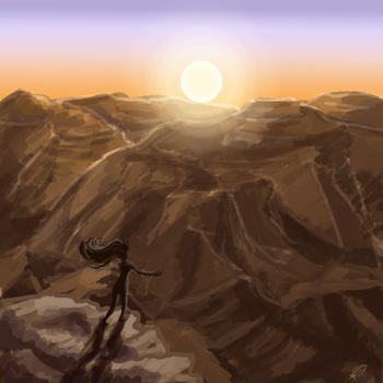 Day 11- Evening Canyon by bookwormy606