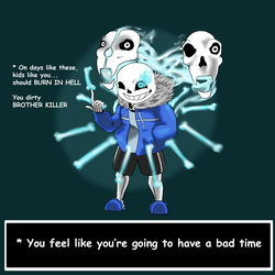 Sans Fight (maybe spoiler warning I guess?) by BlackGuard89