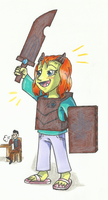 Trollhunters OC: Mia the little Trollhunter by PastellTofu