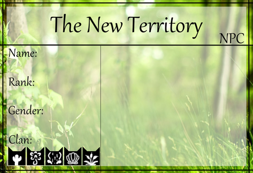 The New Territory NPC Application by Midnytnytmare90