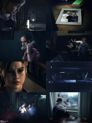 Resident Evil 2: Claire Redfield and Sherry Birkin by Leon-Jill-lover