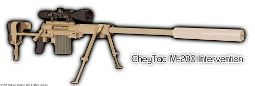 CheyTac M-200 Vector Art by RedAndWhiteDesigns