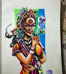 Frida kahlo.(Day of the dead) by Aurpa1994