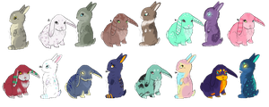 Bunny Set 1 [CHEAP!] [CLOSED] by Xecax