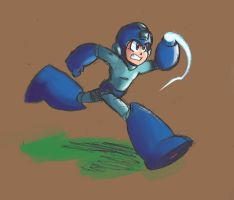Mega Man pencil and color doodle by MegaRyan104
