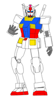 Rx 78 2 Gundam Lineart painted by daigospencer