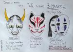 Saying of the Three Masks by saramarconato