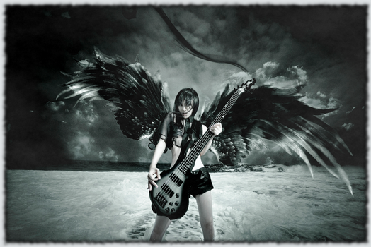 Chthonic - Doris Yeh bass and wings wallpaper by Lunar-Pilgrim