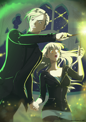 Bridget and Draco by FanasY