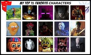 Top 15 Favorite Characters Meme by SCP-096-2