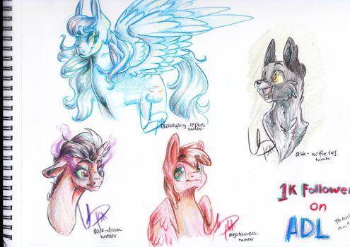 Traditional 1k Thanks ^-^ by EbonyTails