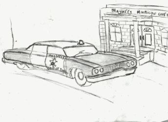 Mayberry Sheriff's office, (Outside). Doodle. by concretecruncher38