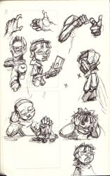 Sketchdump 3: The Red Fly by SkipperWing