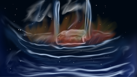 The ship burns by sessy