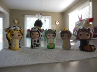 SHINee animal costume polymer clay by forgottenlegend