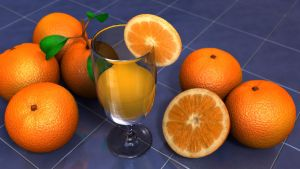 Oranges Subsurface Scattering by Ageofarmour