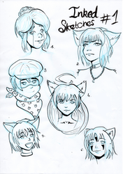 Inked Sketches #1 by Shadtty