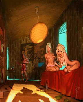 artist, models and guest by Waldemar-Kazak