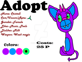 My first Adoptable ( OPEN ) by MaraAnimations