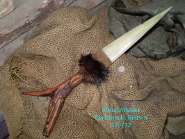Deer Bone Athame with Diamond Willow Handle by Black-Feather