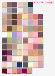 Color Chart by wingsdesiredstock