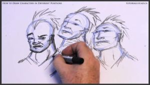 Learn to draw characters in different positions 21 by drawingcourse
