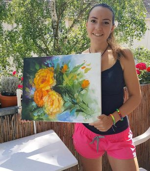 Bright Sun Oil Painting by Naschi