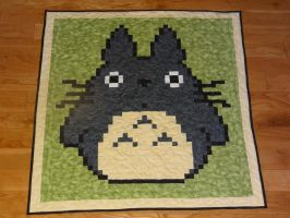 Totoro baby quilt by quiltoni