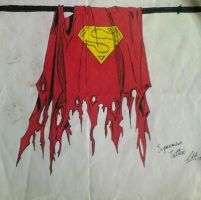 Death of Superman Tattoo design by Paxo666