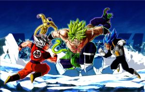 Broly Vs Z Fighters (2018) by Akaggi