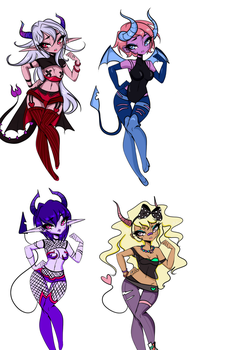 Succubus adoptables CLOSED by Oppai-Puddin