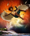 Icarus Falling by OhLizz