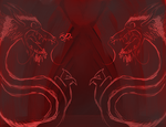 Red Dragon Background by DinomanInc