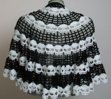 Skull Cape - a Spider Mambo design crocheted by me by Judescreations