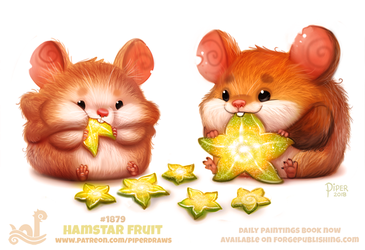 Daily Paint 1879# Hamstar by Cryptid-Creations