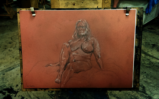 Life Drawing - Two and a half hour pose [19/11/14] by JackSephton