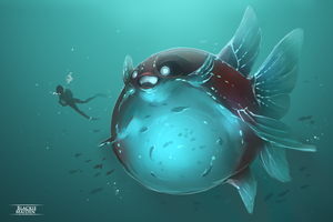 Sketch | Deep sea bulber fish by lBlacKiE-MaiDeNl