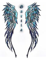 Wing Tattoo Commision by bloodyvampire18