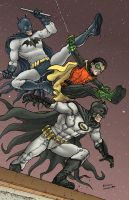 Batman and Batman and Robin by RamonVillalobos