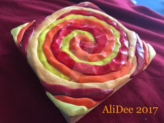 Clay on Wood: Spiral by AliDee33